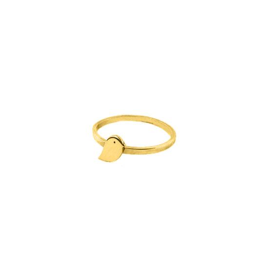 Inel vrabiuta, Aur 14 K