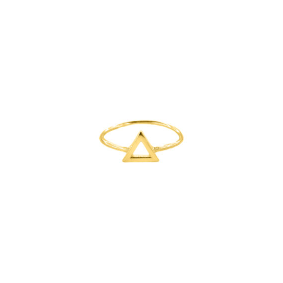 Inel triunghi, Aur 14 K